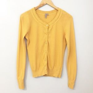 Caslon Mustard Button front Cardigan Size XS